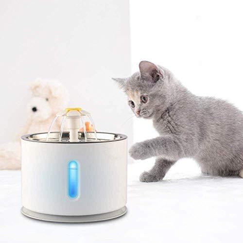 Sudaijins waterpas voor katten, 2,4 l, automatische watervoorziening, ramen, elektrisch, stil, voor honden
