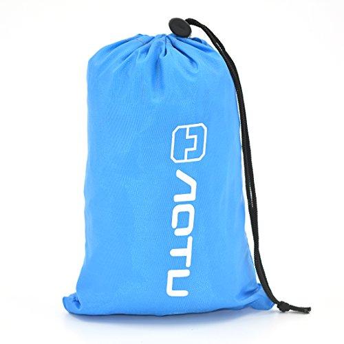 Allon - Manta plegable para picnic, impermeable, grande, para playa, ligera, para viajes al aire libre, azul