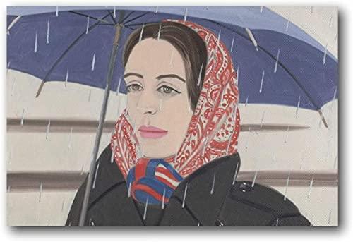 APAZSH Cuadros Decoracion Alex Katz Blue Umbrella.PNG Pintura sobre Lienzo Pared Arte póster Desplazamiento Cuadros impresión Pared Decoracion Poster para el hogar 60x90cm x1 Sin Marco