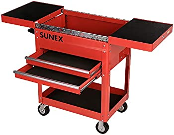 Sunex 8035R 450 lb. Capacity Compact Slide Top Utility Cart (Red)