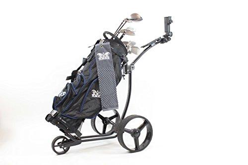 Yorrx® Slim Lion Pro 5 PLUS Golftrolley/Golfwagen/Golf Cart; AKTION: GRATIS REGENSCHIRMHALTER (Schwarz) - 7