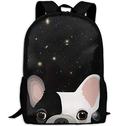 Cute-French-Bulldog-Print Interest Print Custom Unique Casual Backpack School Bag Travel Daypack Gift