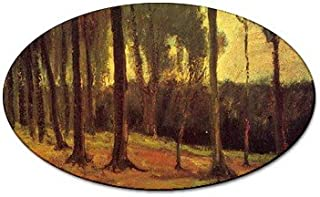 Edge of a Wood By Vincent Van Gogh Oval Magnet