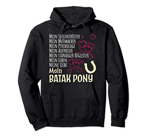 Damen Pferdespruch Reiterin Geschenk Batak Pony Pferde Pullover Hoodie