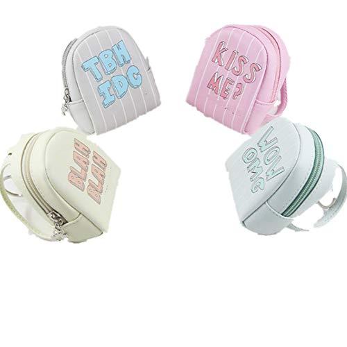 Fully 2 Piezas de Mini Muñeca Accesorios Mochila Mochilas Correas Dobles para Dolls Cuero PU (Color al Azar)