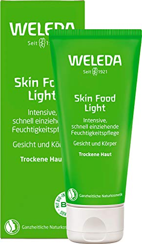 WELEDA Skin Food Light Feuchtigkeitscreme, Naturkosmetik für Gesicht & Körper, intensiv beruhigend und feuchtigkeitsspendend, Hautcreme für trockene Haut (1 x 75 ml)