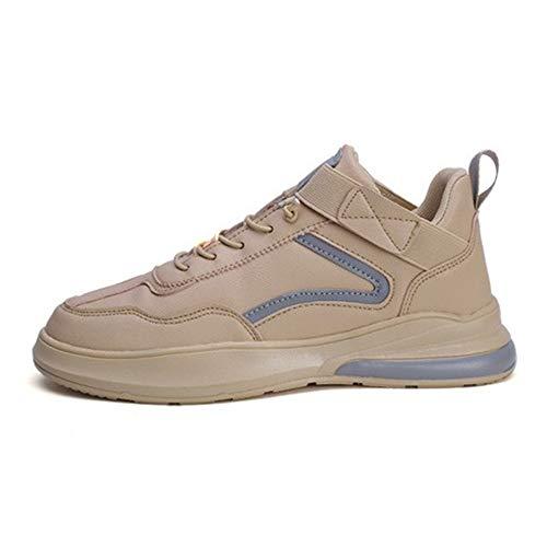 IDE Play Hommes Sports Chaussures de Course Casual Marche Jogging Salle de Gym Chaussures de Sport Confortable Athletic Baskets Mode Mesh Respirant,Beige,38