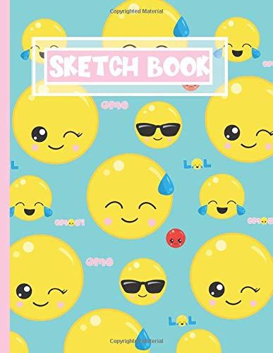 Sketch Book Kawaii Emojii Blank Sketch Pad: Gift For Emoji Lovers for Drawing, Sketching, Doodling 100 pages 8.5