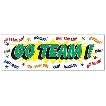 Go Team Sign Banner Party Accessory  1 count   1/Pkg