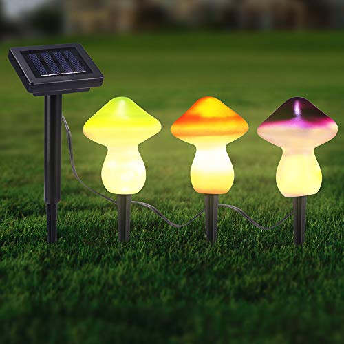 tournesol 3pcs lampe de décoration de jardin lumière de pieu solaire lis