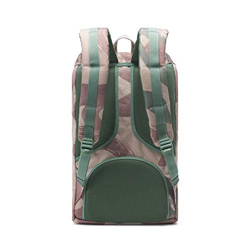 Herschel Little America Laptop Backpack, Brushstroke Camo/Tan Synthetic Leather, Classic 25.0L