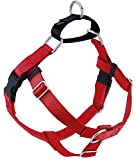 2 Hounds Design Freedom No Pull Dog Harness | Adjustable Gentle Comfortable Control for Easy Dog Walking |for Small Medium and Large Dogs | Made in USA | 1' LG Red
