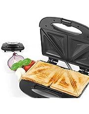 LIVEMORE LTZ 2 in 1 sandwichmaker 750 watt / contactgrill als sandwichrooster, paninitoaster , paninigrill van roestvrij staal