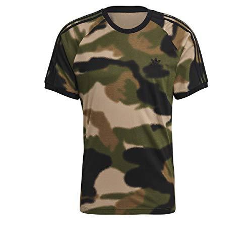 adidas GN1882 CAMO AOP CALI T T-Shirt Mens wild Pine/Multicolor/Black M