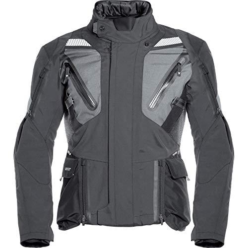 Dainese Motorradjacke mit Protektoren Motorrad Jacke Gran Turismo GTX Textiljacke schwarz/grau 50, Herren, Tourer, Ganzjährig