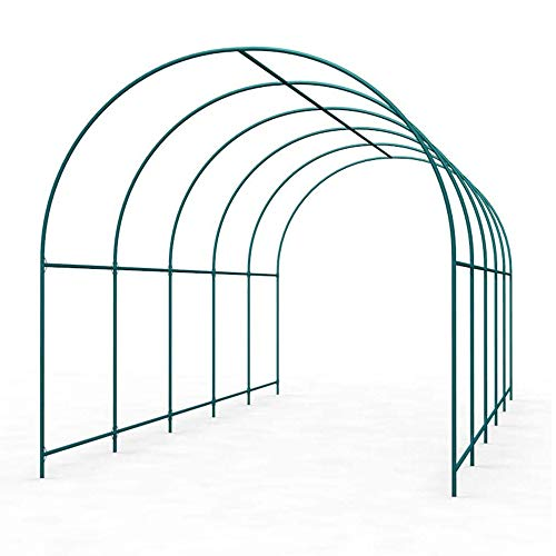 COFFEE CAT Metal Pergola, High Wide Metal Steel Frame Stand Trellis,Gardening Walkway Arches,Gift Grid,Thickened Steel Pipe, Green,for Wedding Party Bridal Prom Garden Floral Decoration