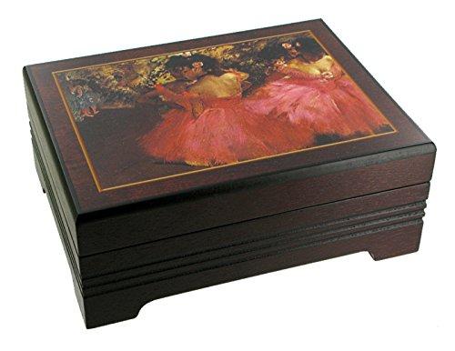 Caja de música para joyas / joyero musical de madera con reproducción de un cuadro famoso - El lago de los cisnes (P. I. Chaikovski)
