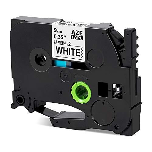 Nastro Etichette Invoker Compatibile In sostituzione di Brother P-touch TZe-N201 TZe N201 TZ N201 Adesive Cartucce 3,5mm, con Brother P-touch, Nero su Bianco