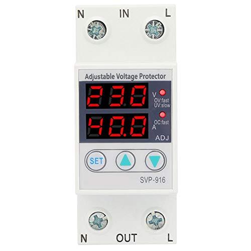 idalinya Inteligente monofásico Ajustable Sobretensión Bajo voltaje Corriente Protector 230VAC(40A)