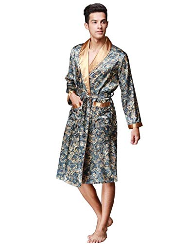 Hombres Y Otoño Largo Camisón Hombres Similares Albornoz Seda Pijama Ropa Hombr