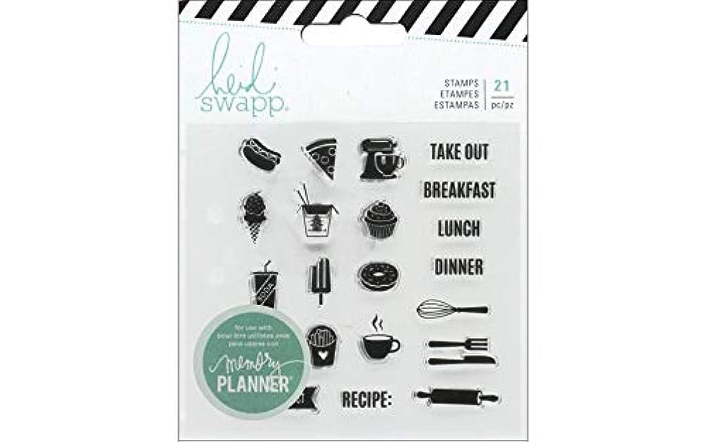 Heidi Swapp Fresh Start Memory Planner Clear Stamps - Food