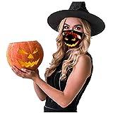 UINGKID Multifunktionstuch Staubmaske 3 Stück Halloween Drucken UV-Schutz Bandana Elastisches...