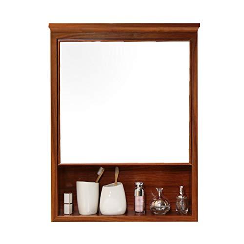 Armarios con espejo Gabinete De Espejo Mueble De Baño Semi-Cerrado con Espejo...