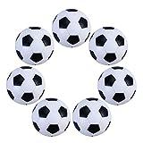WINOMO 6 bolas de fútbol de mesa de 32 mm para futbolín juego de mesa mini bolas de fútbol blanco y negro