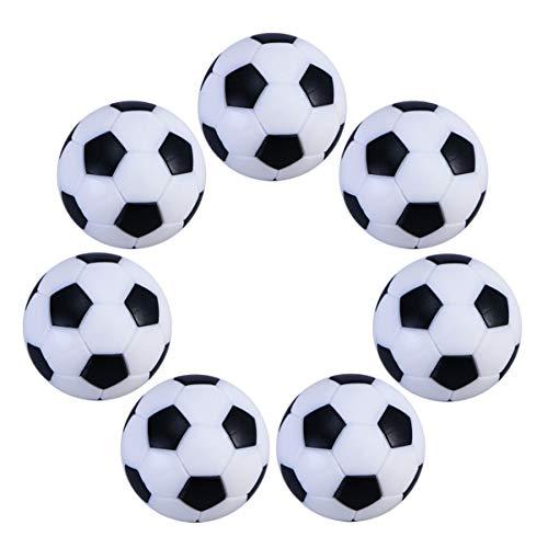 GARNECK 6 Piezas de 32Mm de Mesa de Fútbol de Repuesto Mini Y Blanco Fútbol Pelotas Oficial de Mesa Juego de Pelota