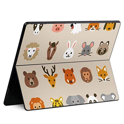 igsticker Surface Pro X 専用スキンシール サーフェス プロ エックス ノートブック ノートパソコン カバー ケース フィルム ステッカー アクセサリー 保護 013480 動物 かわいい イラスト