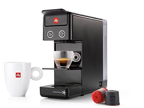 ILLY KAFFEEMASCHINE ILLY Modell Y3.2 Iperespresso Farbe Schwarz Ideal für Espressokaffee und Amerikanischen Kaffee.