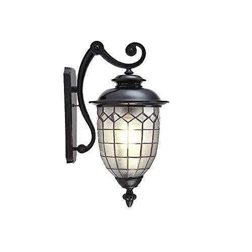 Wall Lamp Lámpara de pared europea impermeable al aire libre Rust LED de pared exterior puerta colgando lámpara de pared del jardín al aire libre Terraza Villa Corredor retro Balcón de pared de luz