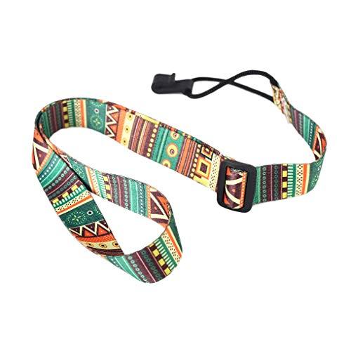 Tifanyyg Gitarrengurt ethnischen Muster-justierbares Nylon Clip auf Gitarren-Gürtel Einstellbare Nylon Ukulele-Bügel-Gurt-Haken-Gitarren-Sling-Zubehör