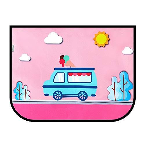 QLING Car Window Shades, blokkeert UV-stralen, pak van 2 auto zon schaduwen voor kinderen en huisdieren, sterke magnetische adsorptie schattige cartoon auto venster schaduw jaloezieën voor de meeste voertuigen (#3)