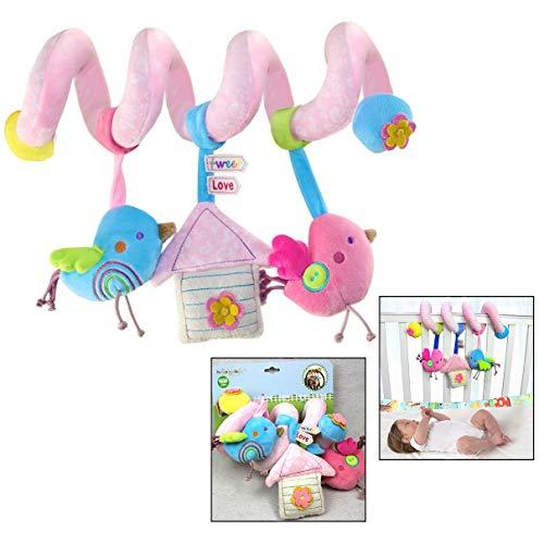 Xrten Juguetes Espiral Actividades Colgante Animales para Cuna Cochecito Carrito bebés niños