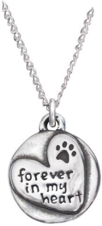 Rockin' Doggie Sterling Silver Necklace, Forever in my Heart by Rockin' Doggie