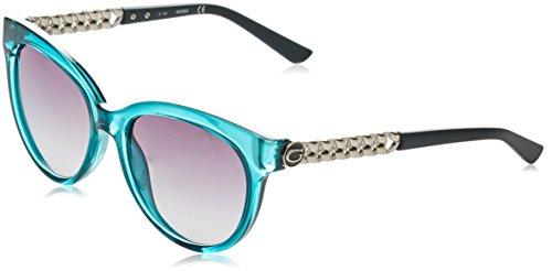 Guess GF6004 Gafas de sol, Azul (Blu/nero), 56 para Mujer