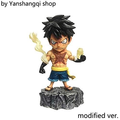 Yanshangqi One Piece: Ruffy Q Tattoo Ver PVC Figure - 5,9 Inches