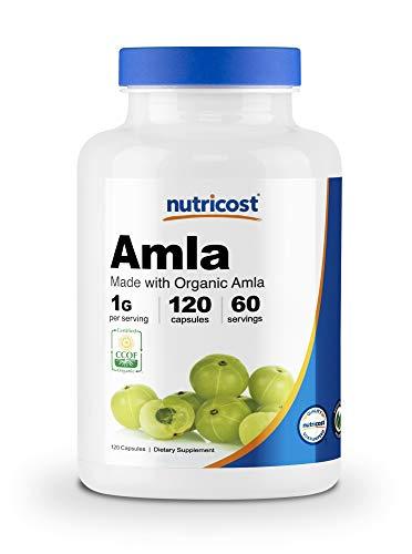 Nutricost Organic AMLA Capsules 1000mg, 60 Servings - Certified CCOF Organic, Vegan, Gluten Free, 500mg Per Capsule, 120 Capsules