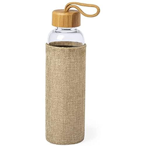 Botella ecológica de cristal con funda ecolo.