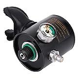 Keenso Tauchregler Verschnaufpause Sauerstoff Flaschenkopf Aufblasbar Silikon Manometer Mini Tauchen...