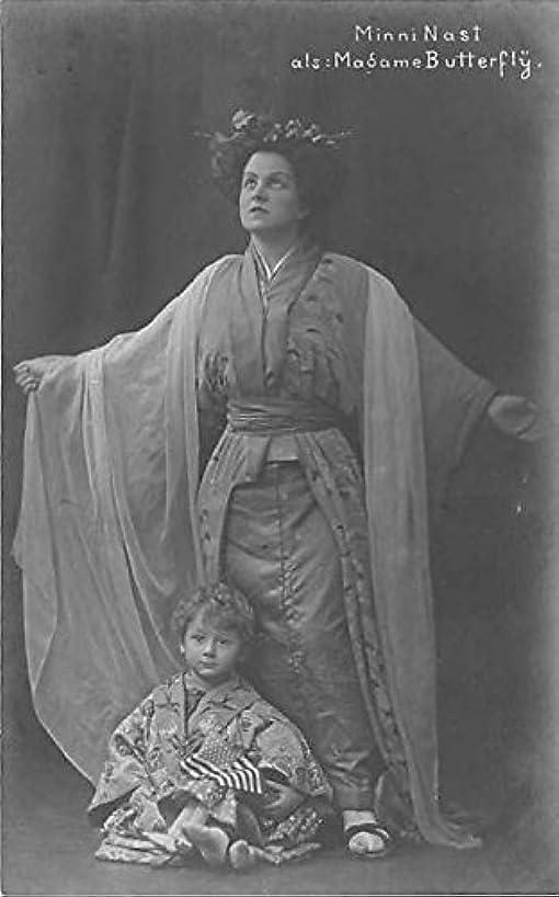Theater Actor/Actress Old Vintage Antique Postcard Post Card, Postales, Postkaarten, Kartpostal, Cartes, Postkarte, Ansichtskarte Minni Nast als Madame Butterfly Opera Unused