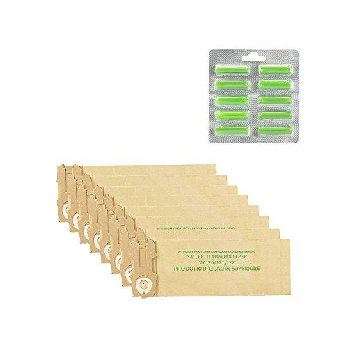 Kit 24 Sacchetti + 20 Profumini Adattabili per Folletto Vk 120/121/122