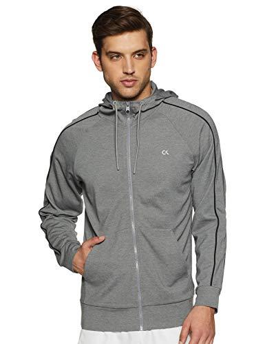 Calvin Klein Men's Sweatshirt (4MF9J446077_Med Grey Heather/Ck Black_L)