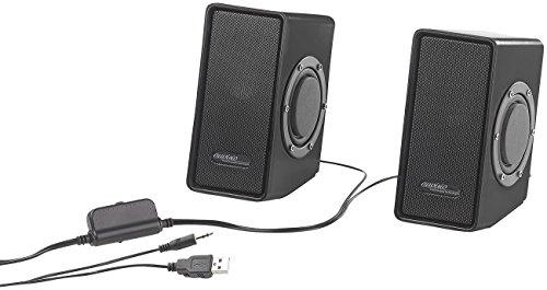 auvisio PC Stereo Lautsprecher: Stereo-Lautsprecher mit passivem Subwoofer & USB-Stromversorgung, 15 W (Lautsprecher Notebook)