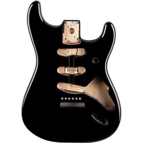 Fender Alder Stratocaster Body - Vintage Bridge Routing - Black