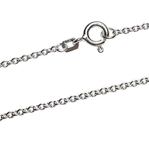 Ankerkette 1,7 mm breit - echt 925 Sterling Silber rhodiniert - Silberkette - Halskette - Herren - Damen - Kinderkette (50)