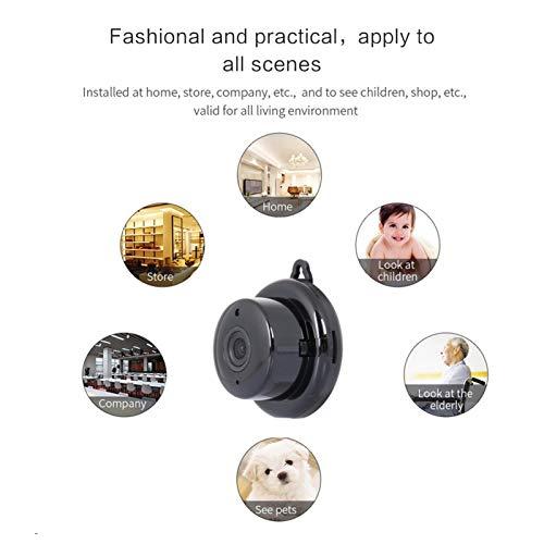 KKmoon Kamera Überwachungskamera Mini Kamera Full HD 1080P Tragbare kleine Heimkamera mit Nachtsich Bewegungserkennung für Innen und Außen Sport
