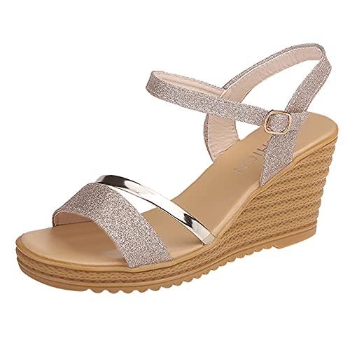 Sandalias para Mujer de Malla Velcro Deportivo de Calzado Casual Ligero Respirado Ligero Running Zapatillas Sacudir Zapatos de Mocasines Verano sandalias punta cerrada mujer