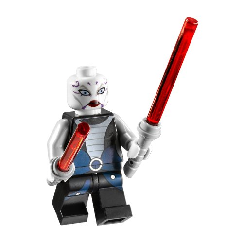 LEGO Asajj Ventress with 2 Red Lightsabers with Special Handle Included Star War